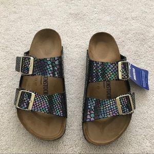 a062786d806 Birkenstock Shoes - Birkenstock. Arizona Sandal. Black Shiny Snake.